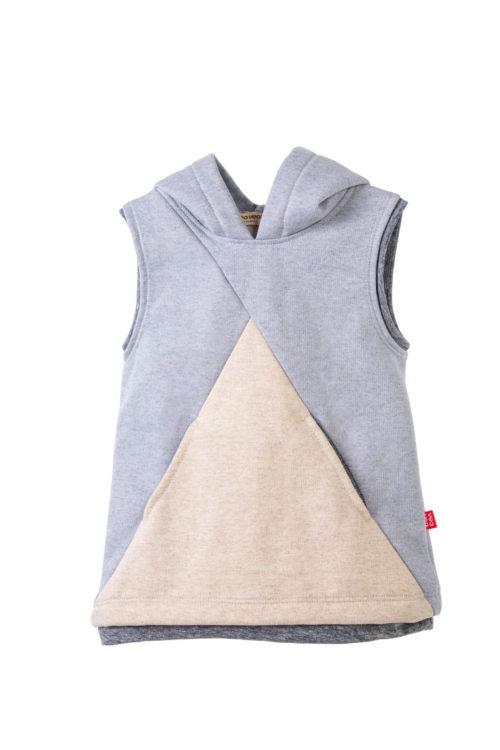 chaleco gris con capucha