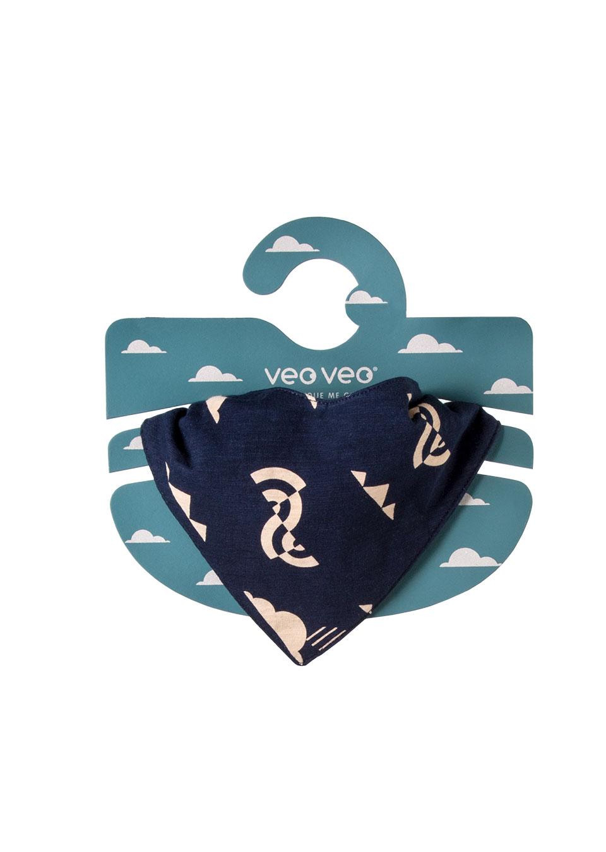 pañuelo para bebe color azul estampado nubes