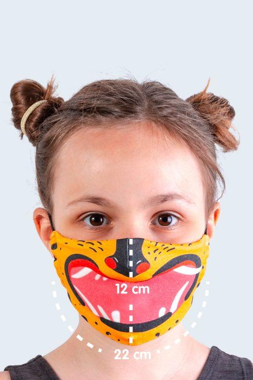 cubrebocas de tela para niños y adultos foto niña