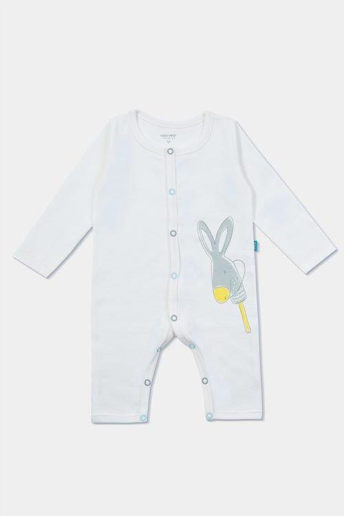 jumpsuit bebé de algodón orgánico foto de producto frente