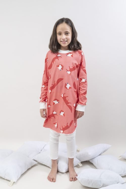 veoveo.store_kids_organic_pajama_little_fox_pink