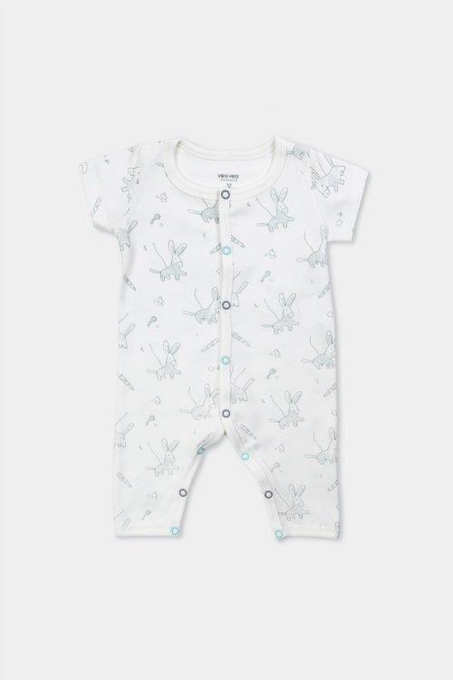 mameluco para bebe de manga corta con algodón orgánico