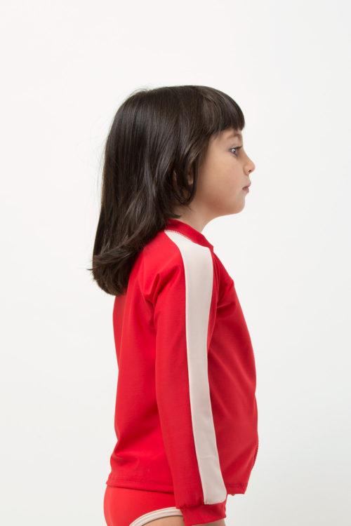 Retro Red Rashguard / Footprint collection 2020 girl view