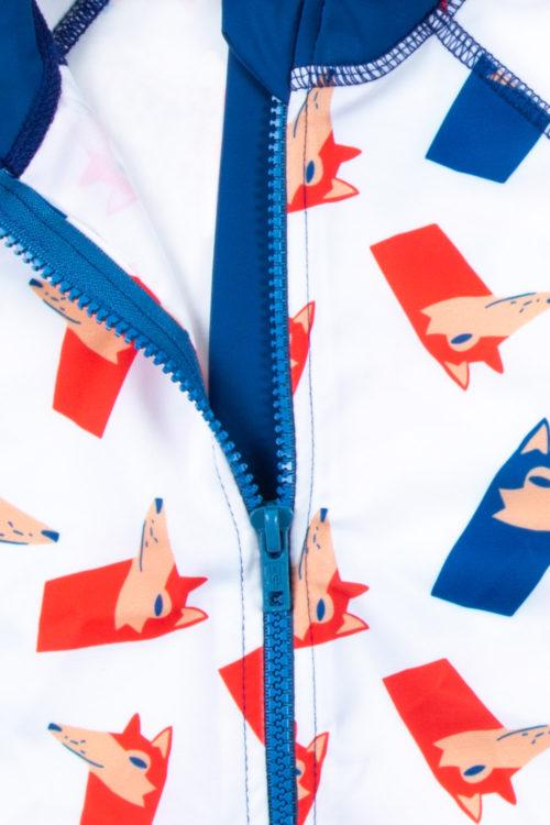 rashguard eco friendly short sleeve / front zipper - printed / Detail