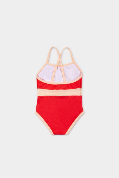 swimwear retrored one piece - product red - back