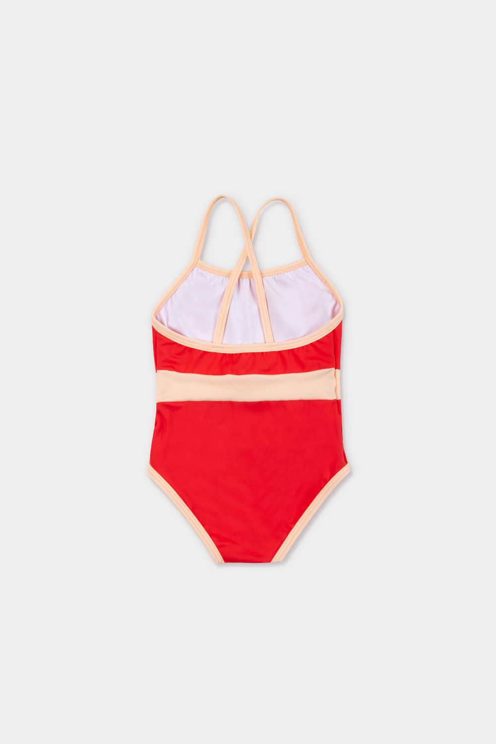 swimwear retrored one piece - product red - back