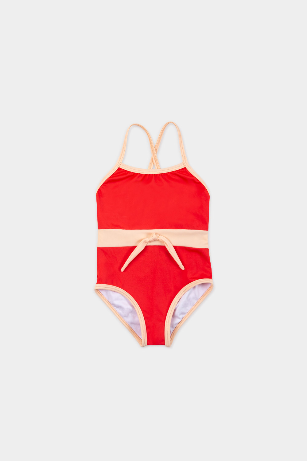 swimwear retrored one piece - product red - front