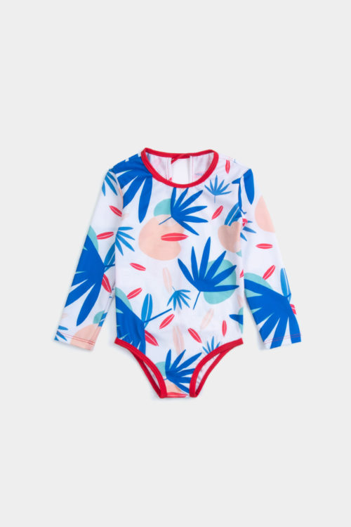 eco friendly swimsuit UPF 50+ front