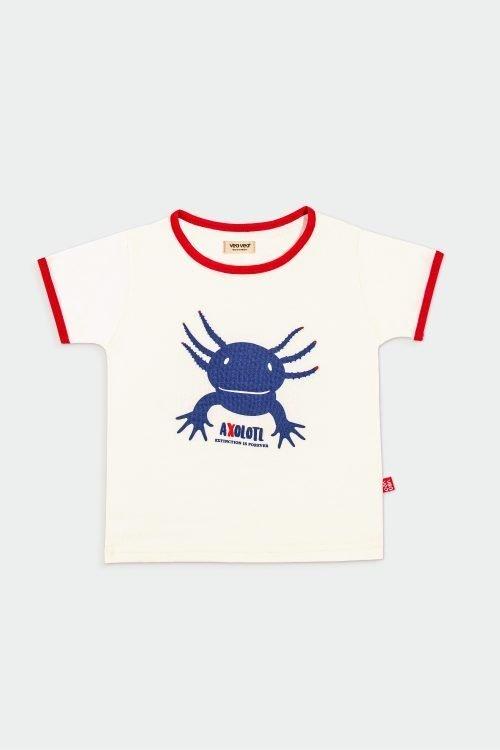 blue axolotl t shirt, organic cotton