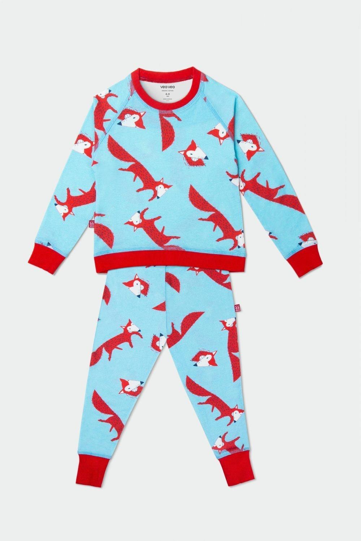 organic cotton pajamas for kids, blue