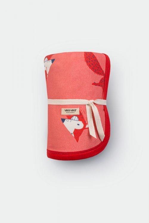 baby pink blanket, organic cotton