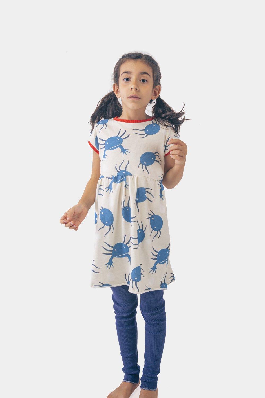 axolotl blue dress, girl